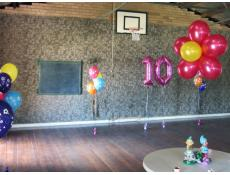 Daisy and Giant Number Balloon Decorations Scout Hall Applecross | www.CorporateRewards.com.au