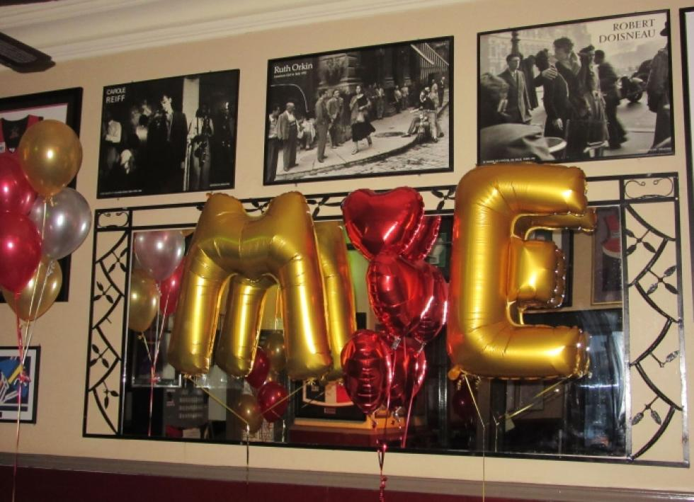 Giant Gold Letter Balloons | Engagement Party | The Left Bank | corporaterewards.com.au