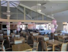 Pearl Pink, Lilac & White Latex Balloon Table Arrangements Aged Care Centre Trigg | www.CorporateRewards.comm.au