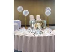 Giant Clear Balloons with Gold Tenisel Tails University Club UWA | www.CorporateRewards.com.au
