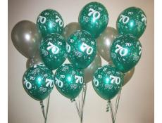 Print 70 Teal and Silver Balloons www.CorporateRewards.com.au