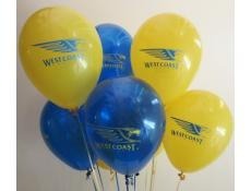 West Coast Eagles Football Print Balloons | Blue & Yellow Balloons www.CorporateRewards.com.au