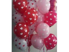 Heart Print Helium Latex Balloons | Assorted Colours CorporateRewards.com.au
