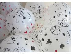 Card and Dice Print Latex Balloons www.corporaterewards.com.su