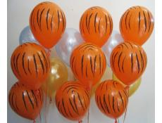 Orange Tiger Print Helium Latex Balloons CorporateRewards.com.au