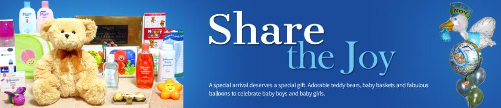 A special arrival deserves a special gift. Adorable teddy bears, baby baskets and fabulous balloons to celebrate baby boys and baby girls