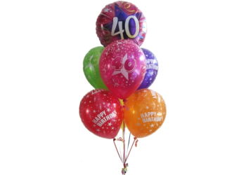 40th Birthday Bouquet 4500 A Helium Balloon