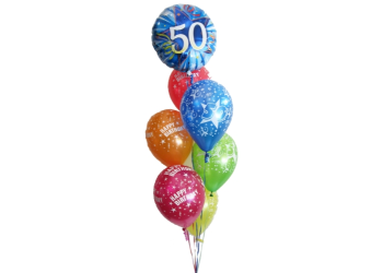 50th birthday balloons helium balloons perth 50th party balloons and balloon bouquets