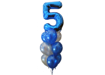 Giant Five Balloon Arrangement