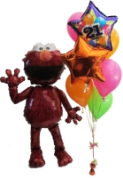 Helium Balloons Perth | Elmo Airwalker and Birthday Balloons
