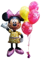Helium Balloons Perth | Minnie Mouse Airwalker with Birthday Balloons