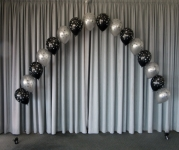 Balloon ARch Perth | Print Balloon Arch Black Silver