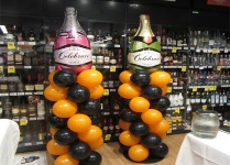Champagne Bottle Balloon Columns Perth