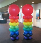 Gaint Rainbow Balloon Columns Perth