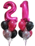 21st Birthday Megaloon Balloons Perth
