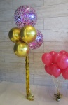 Helium Balloons Perth | Confetti & gold orbz balloons