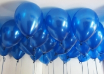 Blue Helium Ceiling Balloons