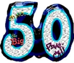 Big 50 Oh No Balloon Shape