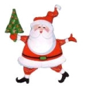 Jolly Santa Claus Balloon