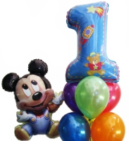 Helium Balloons Perth | Mickey Mouse 1st Birthday Balloons
