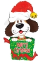 Helium Balloons Perth - Puppy Dog Christmas Balloon