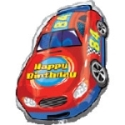 Racing Cale Happy Birthday Balloon