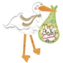 New Baby Stork Balloon