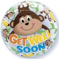 Get Well Monkey Bubble Balloons