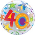 40 Birthday Bubble Balloon