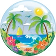 Tropical Paradise Bubble Balloon