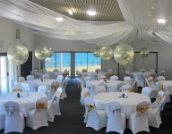 Giant Gold Confetti Helium Balloons Table Arrangements Perth