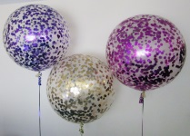 Giant Helium Confetti Balloons Purple Rose gold Pink