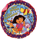 Dora Happy Birthday Balloon