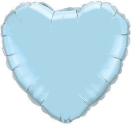 Pearl Blue Heart Balloons