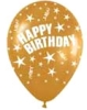 Helium Balloons - Happy Birthday Print Latex Balloons