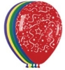 Helium Balloons - Streamers Print Latex Balloons