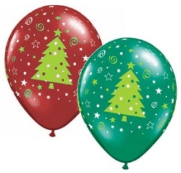 Christmas Tree Helium Latex Balloons Perth
