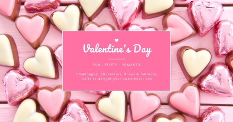 Gift Hampers and Balloons Delivered for Valentine's Day Perth