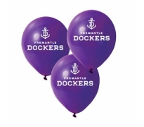 Fremantle Dockers Print Latex Helium Balloons Perth