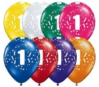 Number 1 Print Latex Helium Balloons Perth