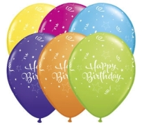 Happy Birthday Print Latex Helium Balloons Perth