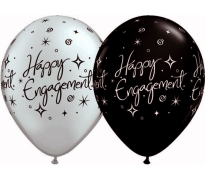 Happy Engagement Print Latex Helium Balloons Perth