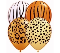 Safari Animal Print Latex Helium Balloons Perth