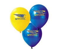 West Coast Eagles Print Latex Helium Balloons Perth