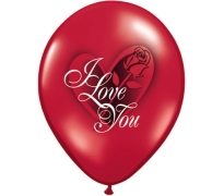 I Love You Print Latex Helium Balloons Perth