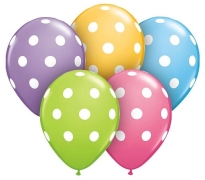 Big POlka Dots Print Latex Helium Balloons Perth