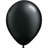 Metallic Onxy Black Helium Latex Balloons