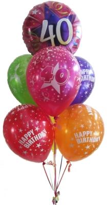 Birthday Balloons Perth 40th Birthday Balloons Helium