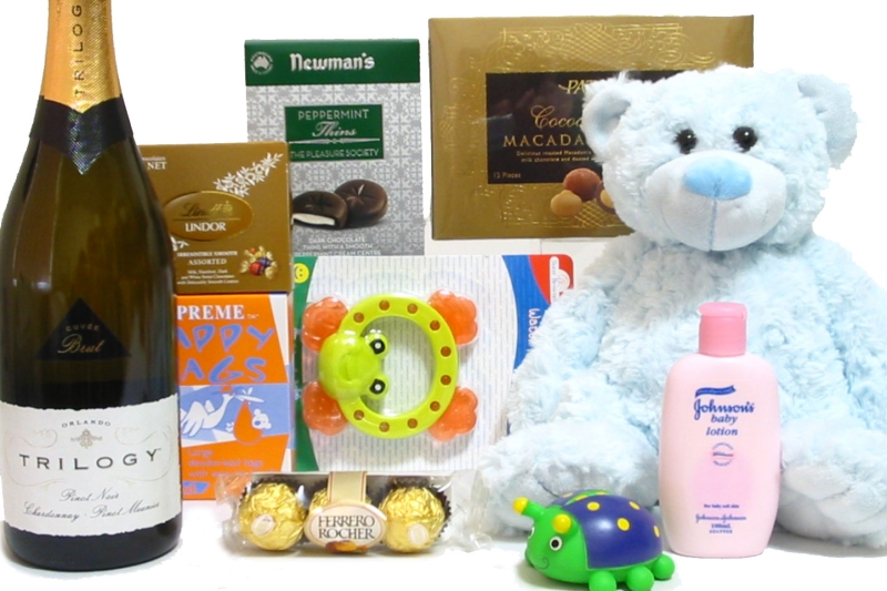 Baby Gift Basket Same Day Delivery : Baby baskets perth gift with champagne and
