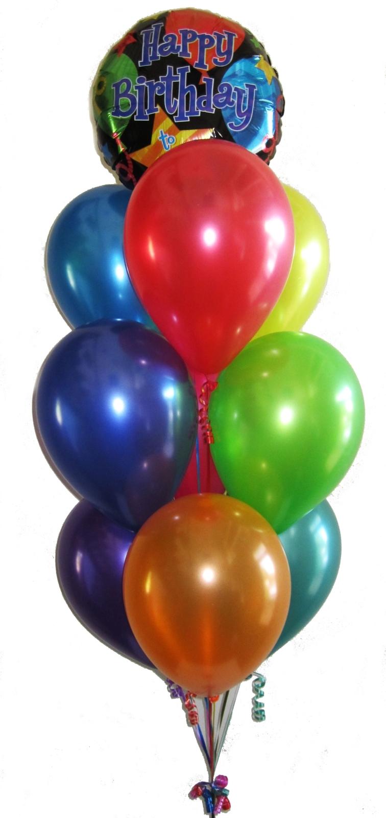 Birthday balloons perth helium balloons birthday for Helium balloon centerpieces